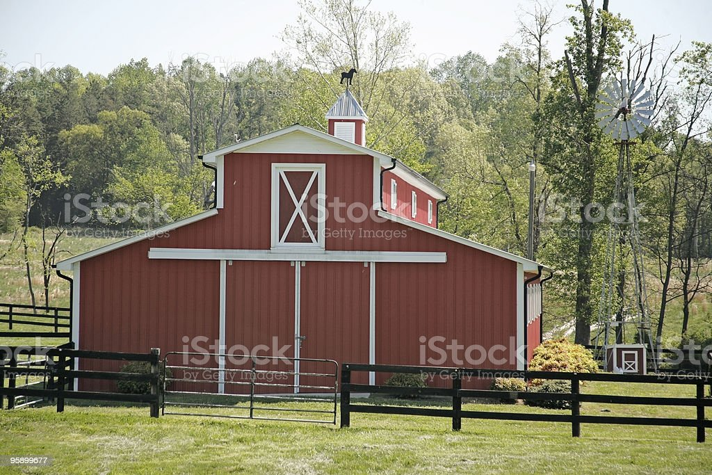 Red Horse Barn Stock Photo Download Image Now Istock