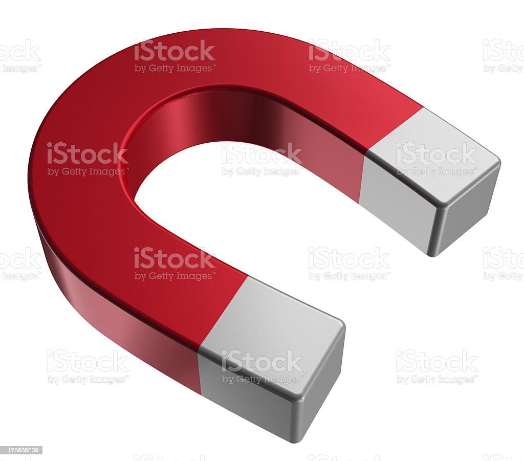 Red horseshoe magnet royalty-free stock photo