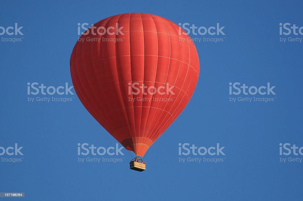 Red Hot Air Balloon royalty-free stock photo