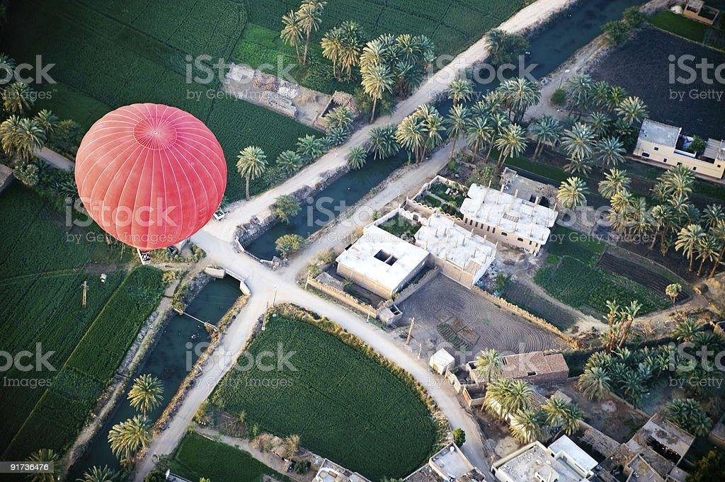 Red Hot Air Balloon stock photo
