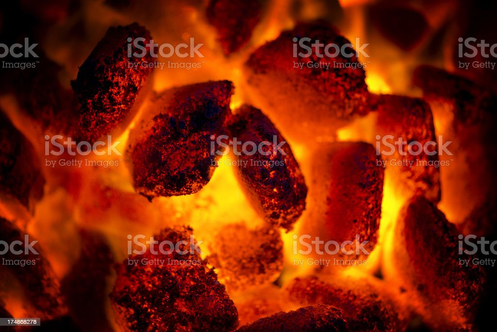 Red Hot Barbeque Coals stock photo
