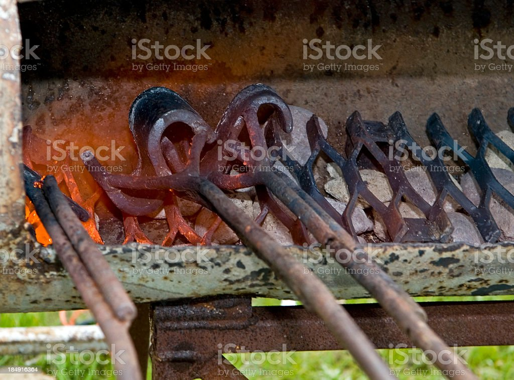 Red Hot Branding Irons royalty-free stock photo