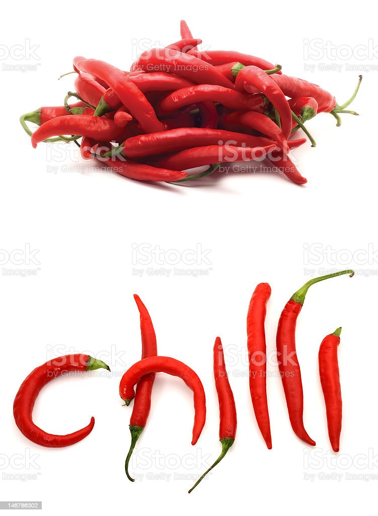 red hot chili peppers royalty-free stock photo