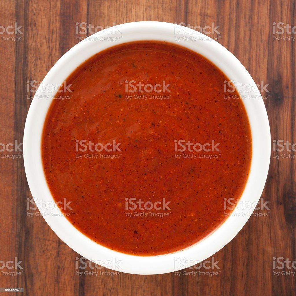 Red hot chili sauce stock photo