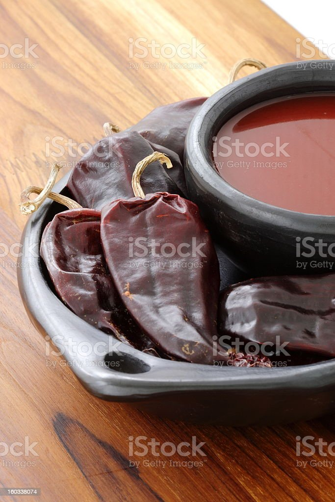Red hot chili sauce royalty-free stock photo