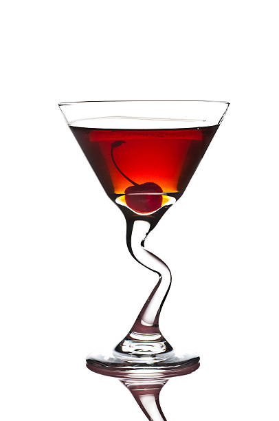 Red Hot Manhattan Cocktail stock photo