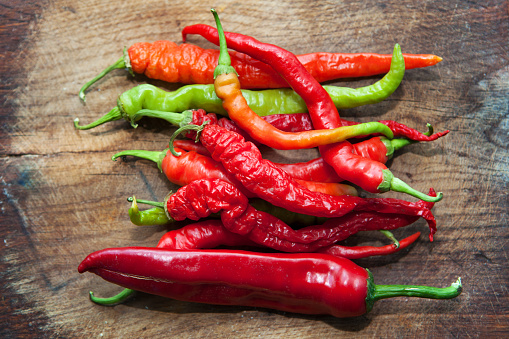 Red Hot Peppers Stock Photo - Download Image Now