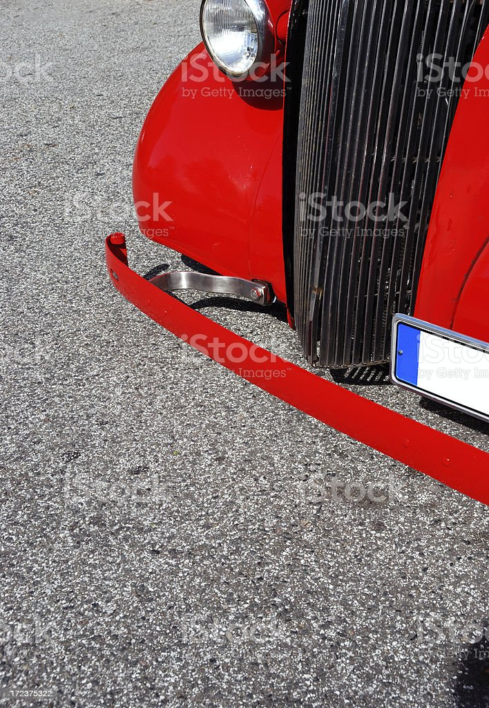 red hot rod royalty-free stock photo