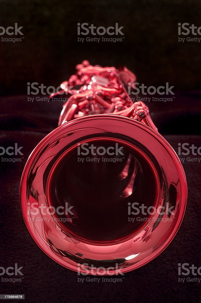 Red hot sax royalty-free stock photo