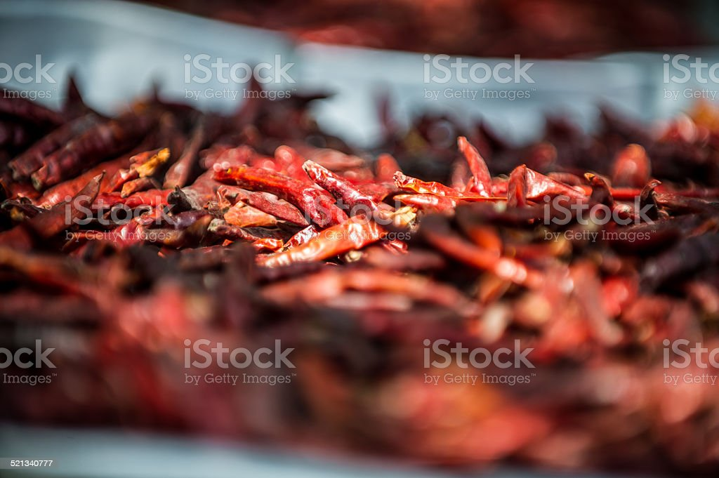Red Hot Thai Chili Peppers stock photo