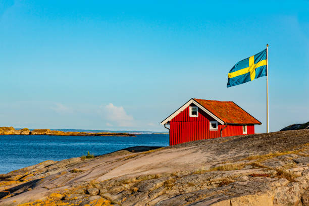 Red House in Sweden Red House in Sweden sweden stock pictures, royalty-free photos & images