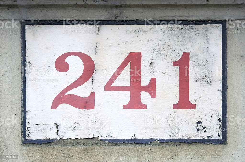 Red house number royalty-free stock photo