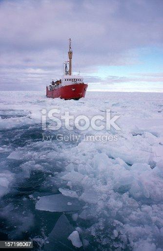 istock A red ice breaking ship breaking up frozen water 157198067