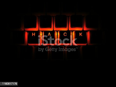 812847840 istock photo red illuminated hack written rgb gaming keyboard buttons 1160617176