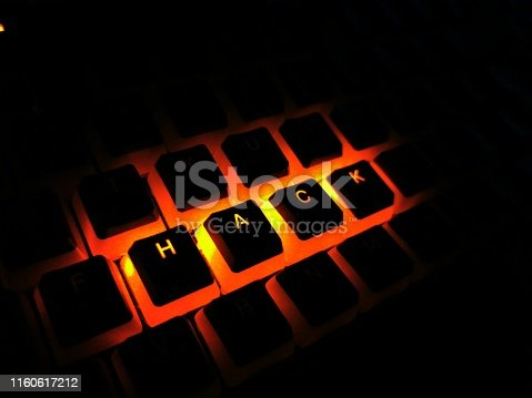 812847840 istock photo red illuminated hack written rgb gaming keyboard buttons 1160617212