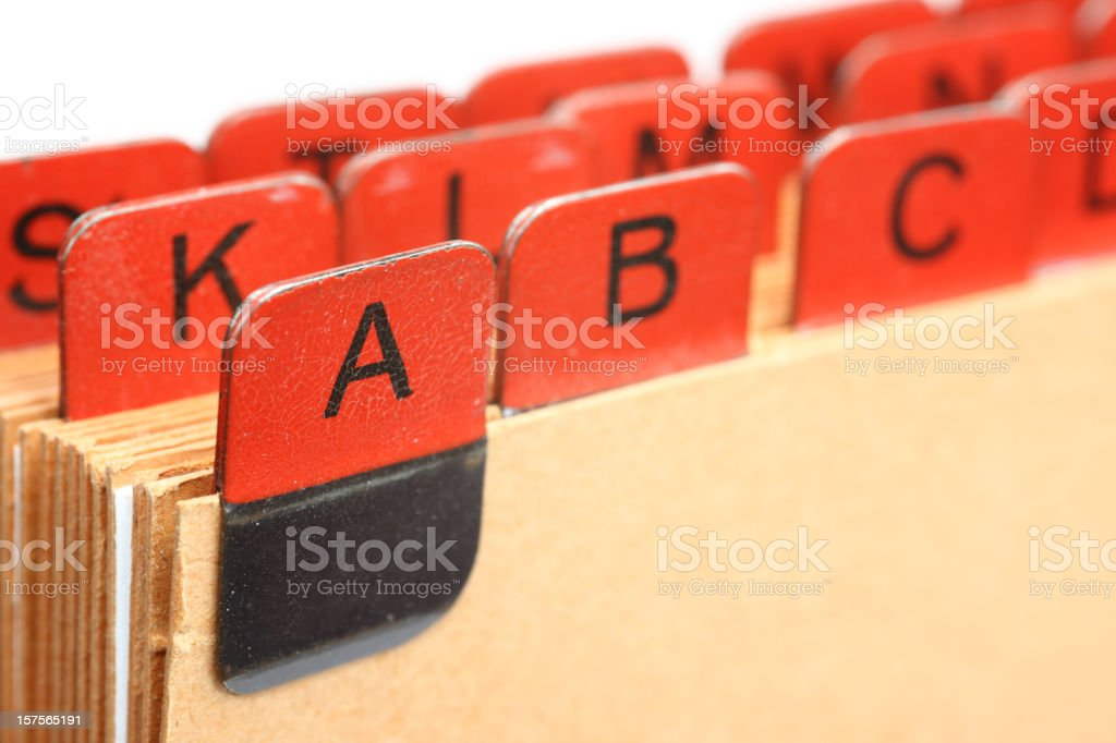 red index cards royalty-free stock photo