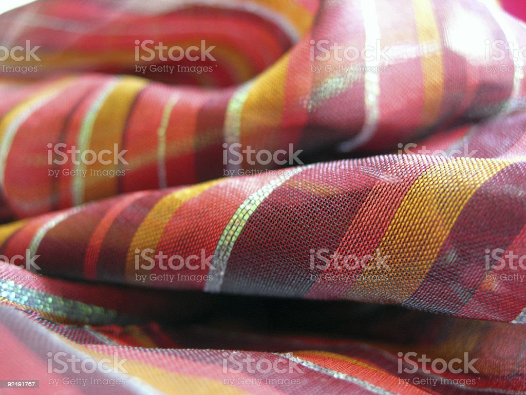 Red Indian Scarf royalty-free stock photo