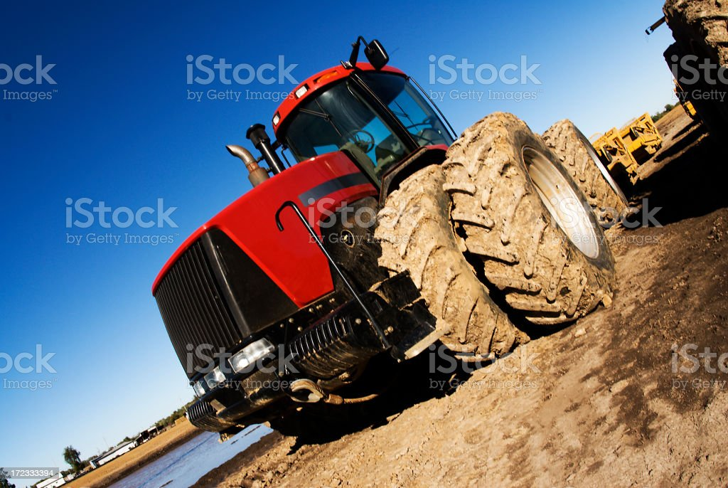 Red Industrial tractor royalty-free stock photo