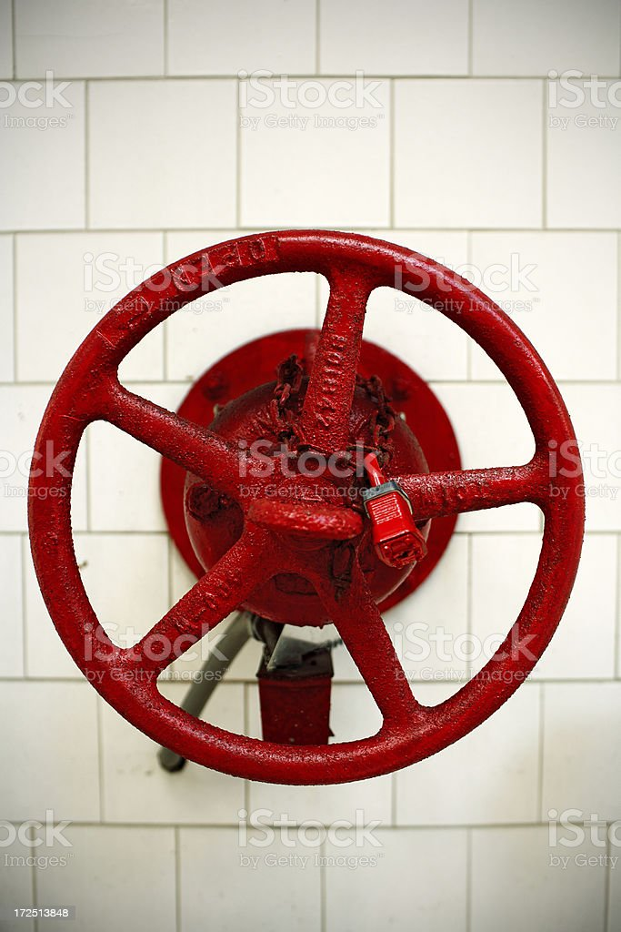red industrial valve royalty-free stock photo