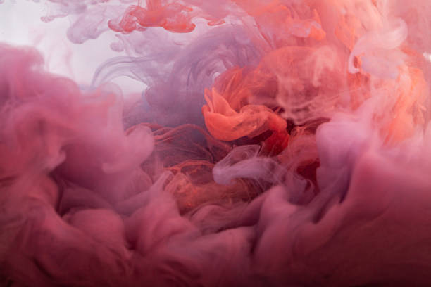 Red ink in water. Abstract background. stock photo