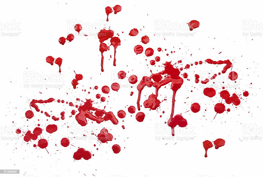 red ink stain effect on white stock photo