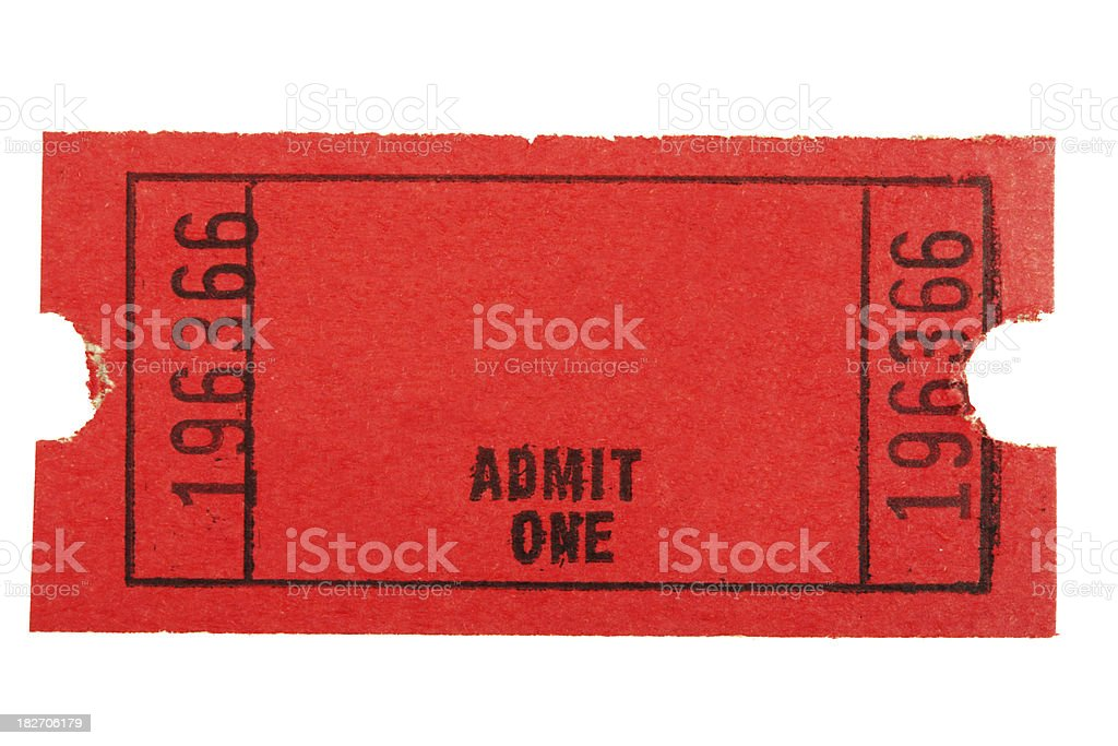 Red Isolated Ticket stock photo
