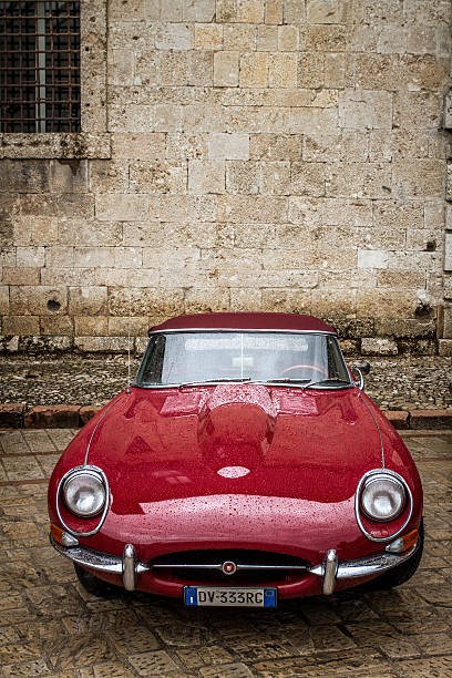 Red Jaguar Vintage Classic Car