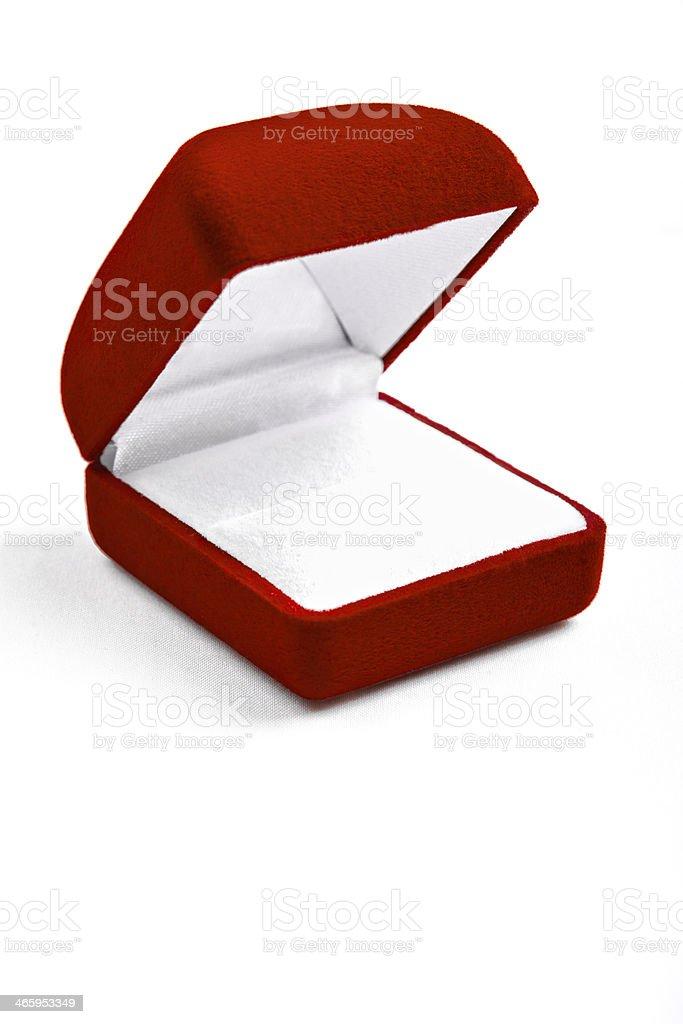 Rojo Caja jewel - foto de stock
