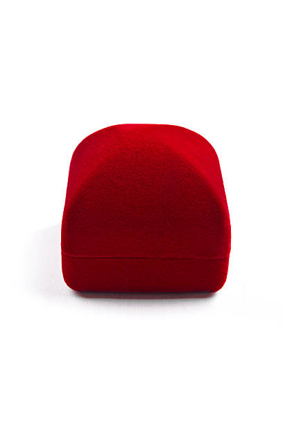 Rojo jewelery caja - foto de stock