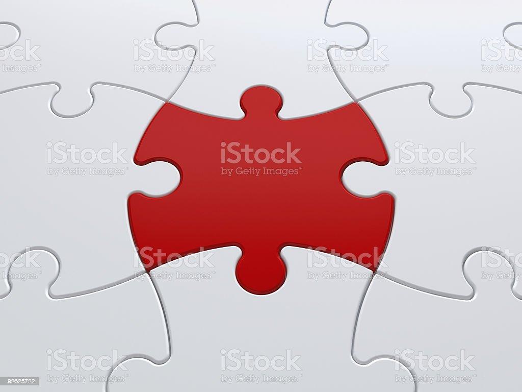 Rote Jigsaw Puzzle Stück – Foto