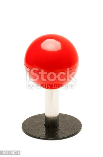 istock Red Joystick 895119718