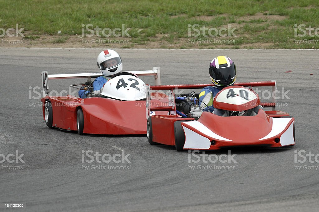 Red Kart Racers royalty-free stock photo