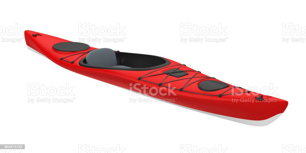 Red Kayak Isolated stock photo