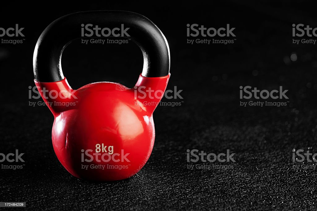 Red Kettlebell royalty-free stock photo