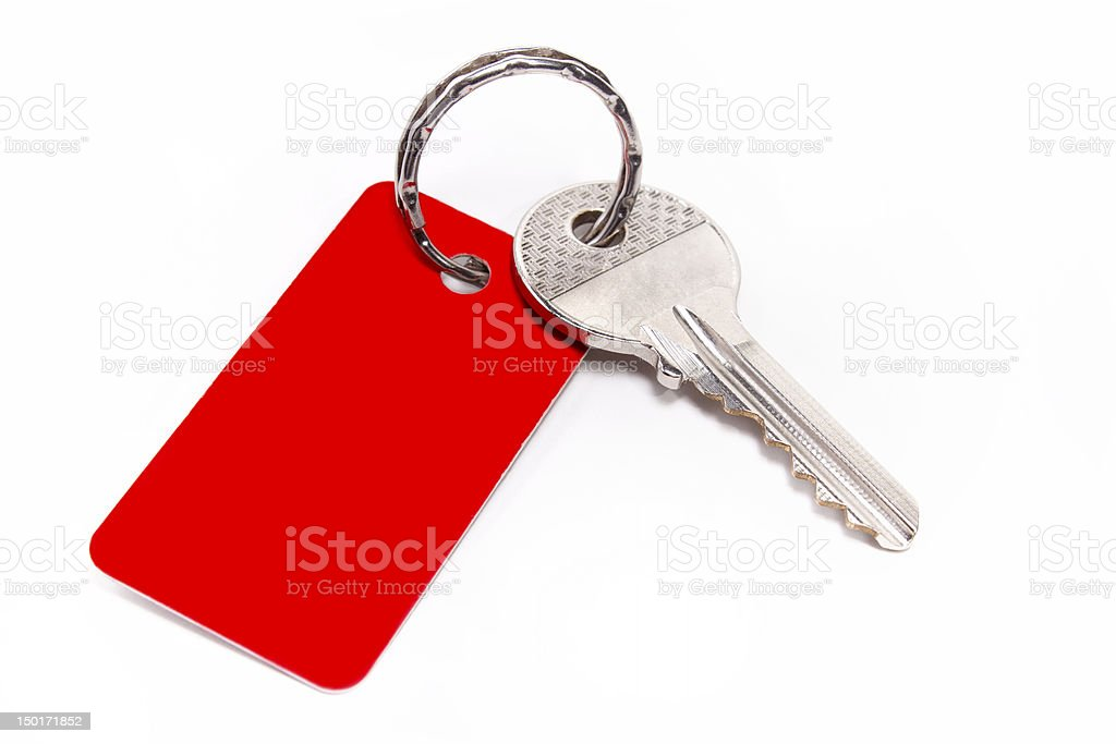red key chain stock photo