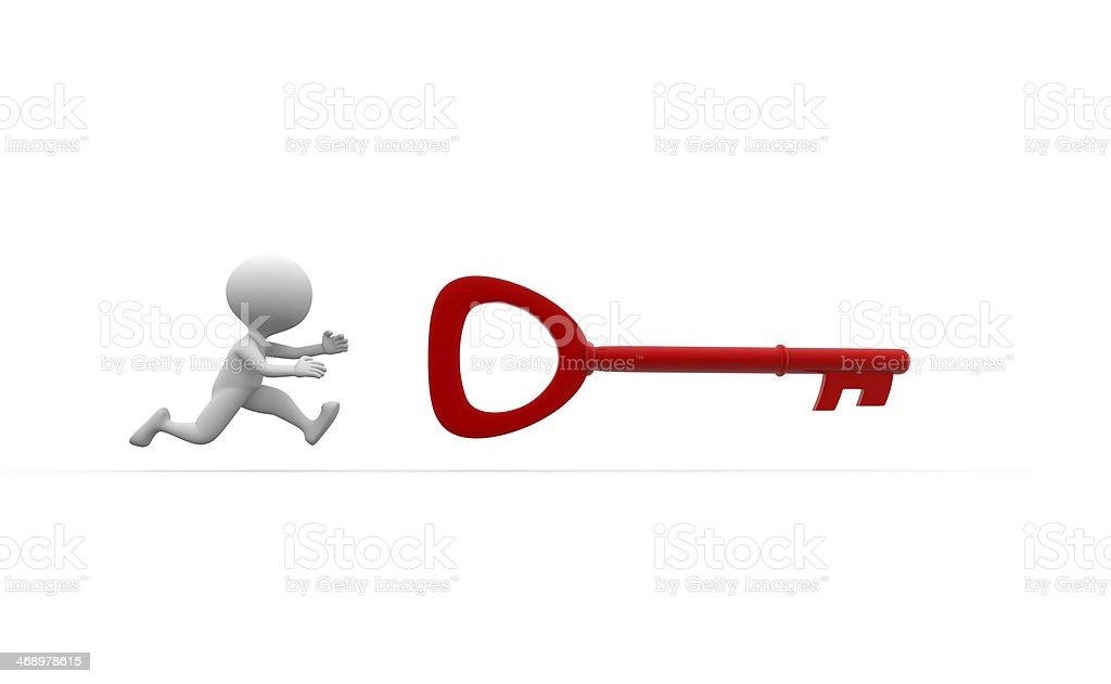 Red key royalty-free stock photo