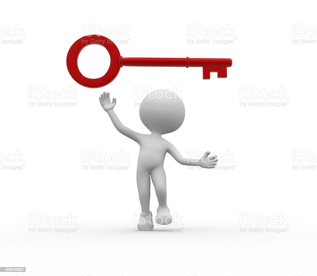 Red key royalty-free stock photo