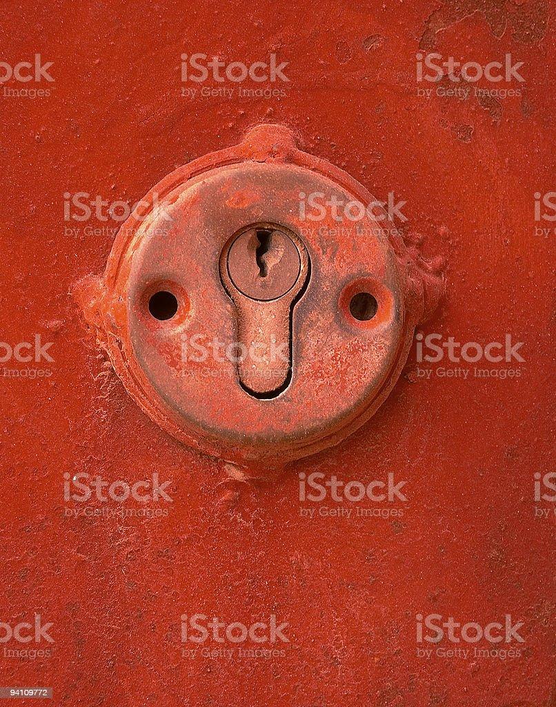 red keyhole royalty-free stock photo