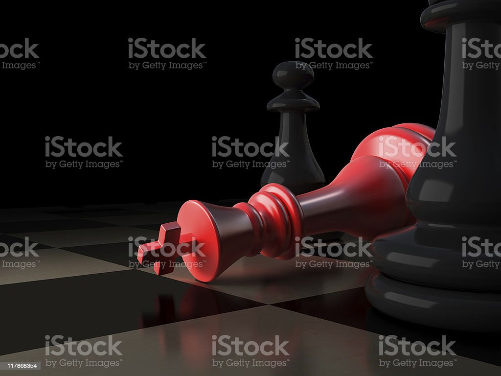Red king down royalty-free stock photo