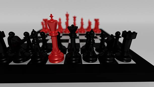 red king for black pieces - defection stock photos and pictures