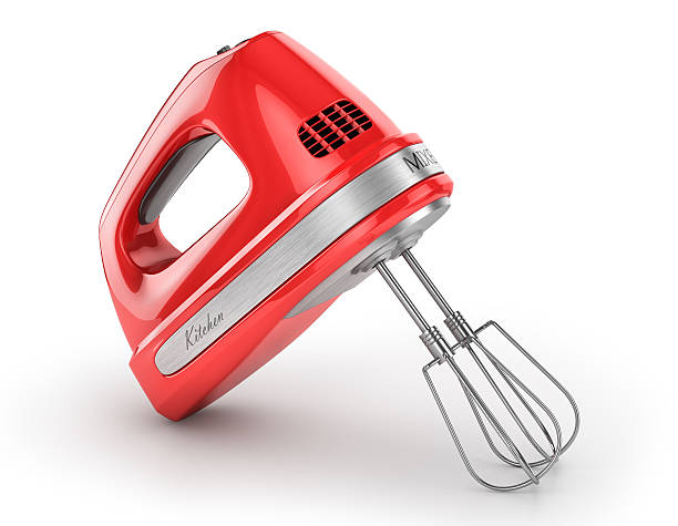 Red kitchen mixer. Red kitchen mixer. 3d illustration electric mixer stock pictures, royalty-free photos & images