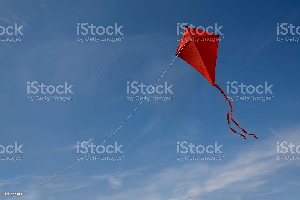 red kite in the sky royalty-free stock photo
