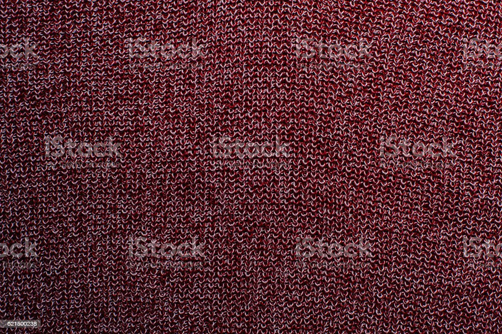 Red knitted fabric texture, closeup foto stock royalty-free