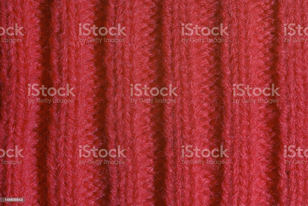 Red knitted wool close up royalty-free stock photo