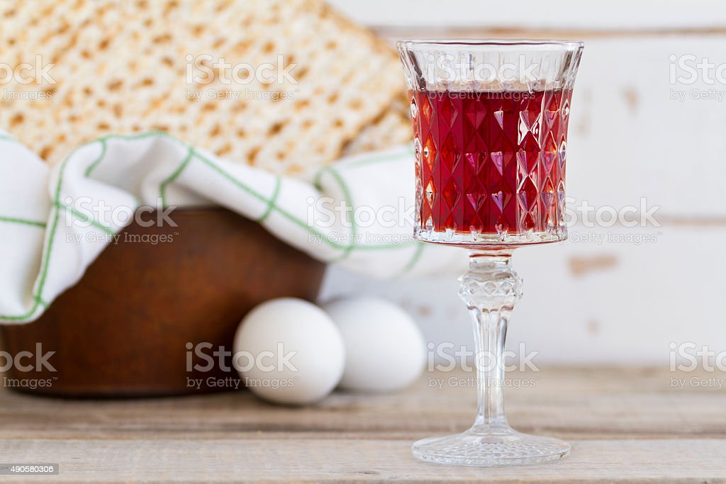 Red Kosher Wine stock photo