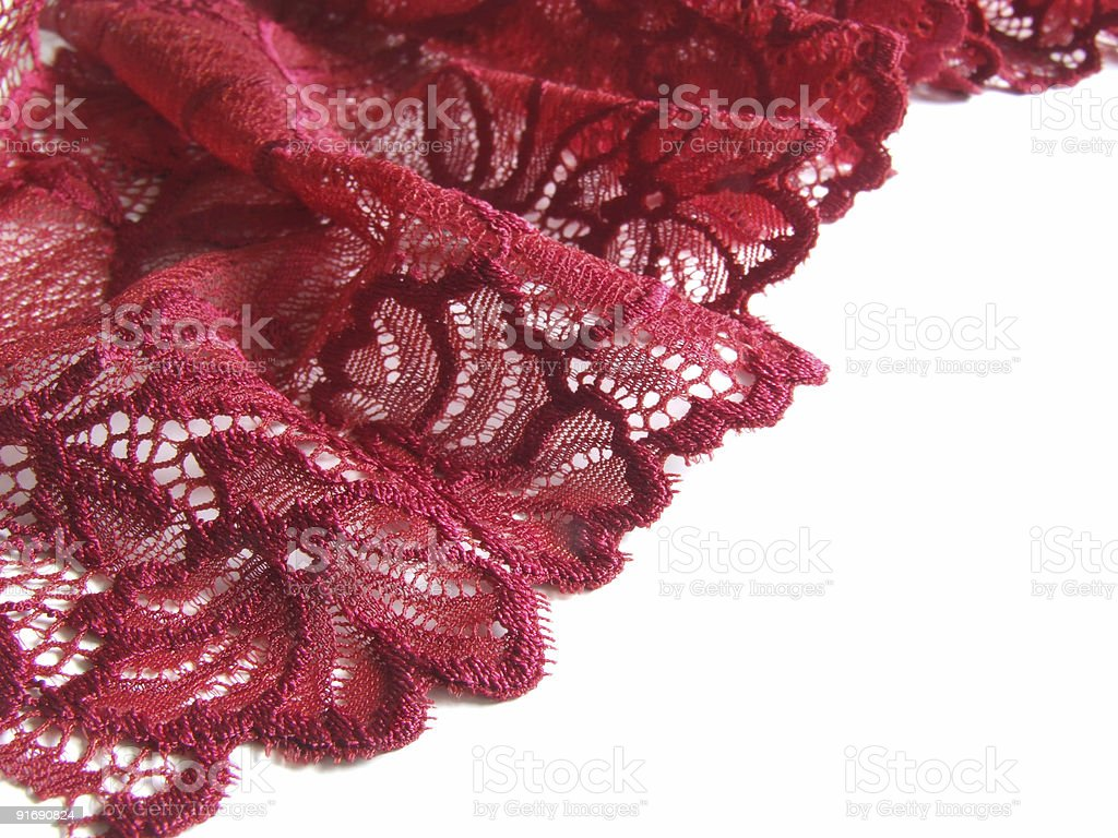 red lace border royalty-free stock photo