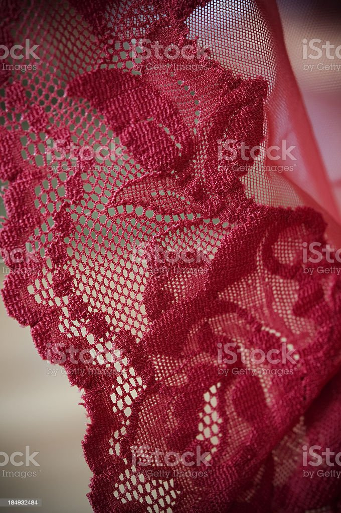 Red Lace royalty-free stock photo