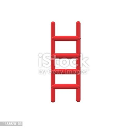 931227282istockphoto 3D red ladder icon on white background. flat style. 3D red ladder icon for your web site design, logo, app, UI. ladder symbol. 1133829155