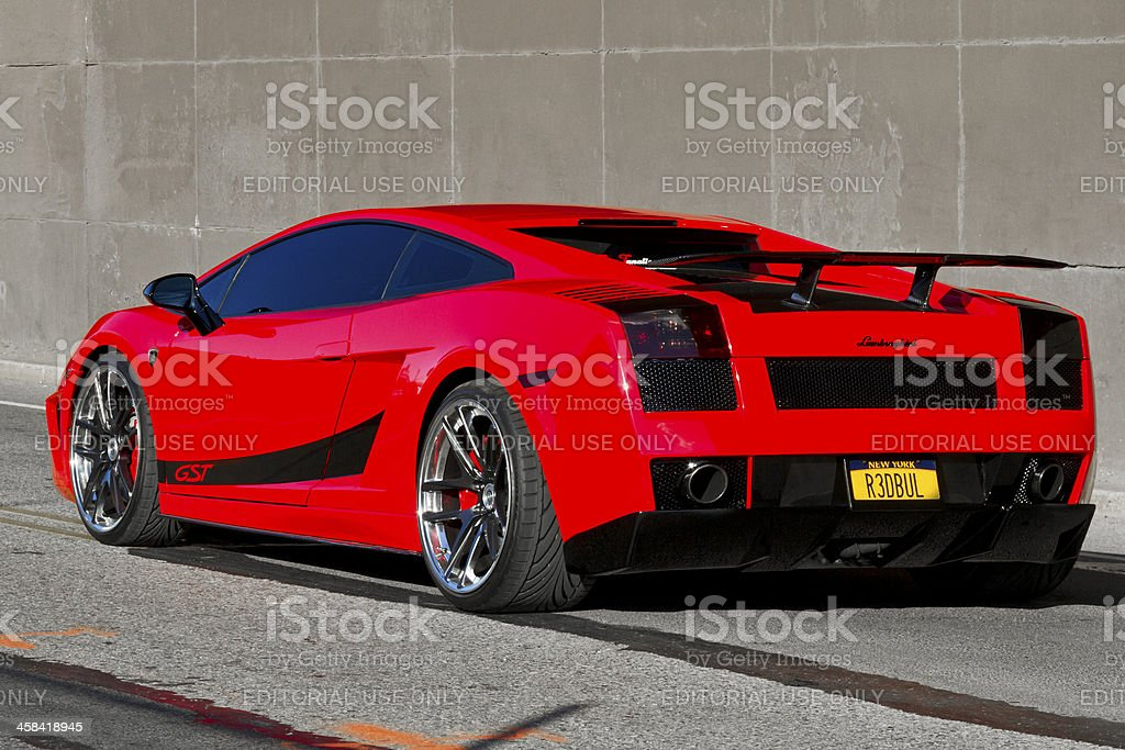 Red Lamborghini 2 Xl Stock Photo More Pictures Of Brooklyn New