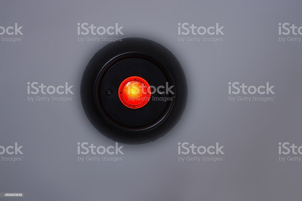 Red lamp button stock photo